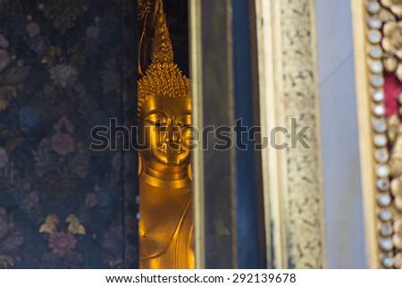 Golden Buddha in the church - stock photo