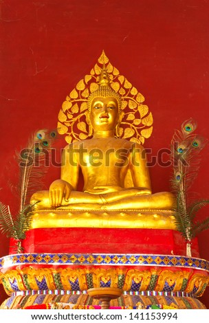Golden Buddha Statue - stock photo