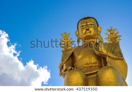Golden Buddha statue in India