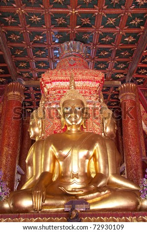 Golden Buddha, the four directions at Northern, Thailand.