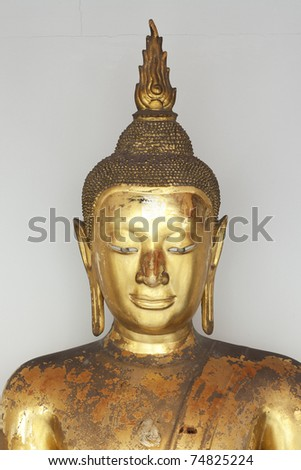 Golden Buddha with Isolated