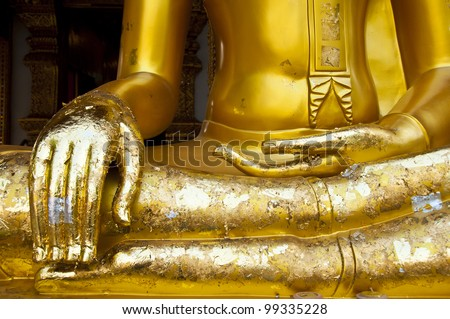golden budha hands