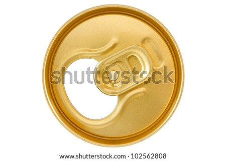 golden  can top  isolated on white background - stock photo