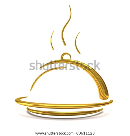 golden catering tray