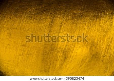 golden cement texture background - stock photo