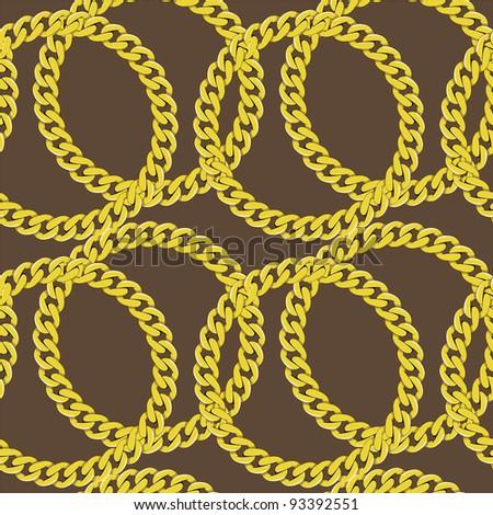 Golden chain seamless - stock photo