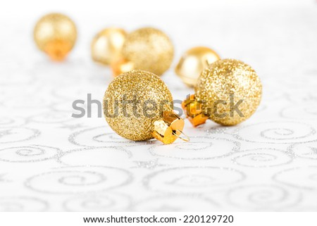 golden christmas bauble - stock photo