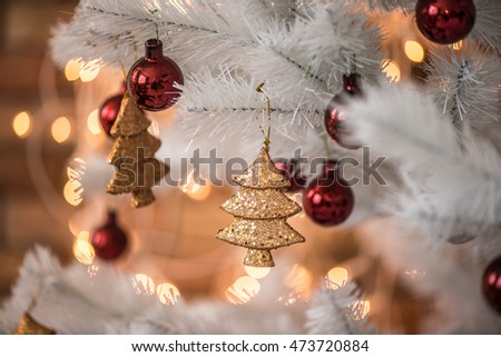 Golden Christmas decorations