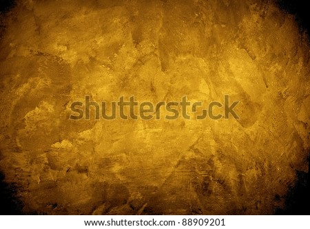 golden concrete wall - stock photo