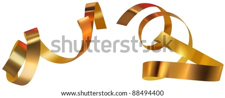 Golden Confetti - stock photo