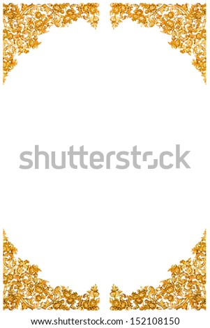 Golden corner thai style isolated on white background. - stock photo