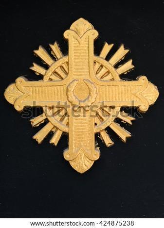 Golden Cross - stock photo