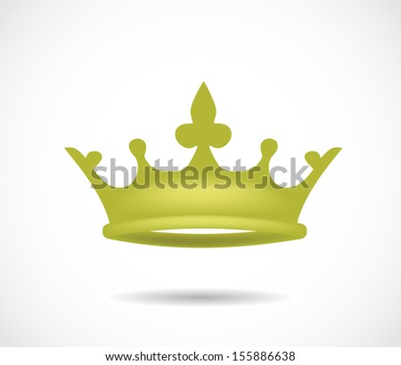 Golden crown isolated on a white background illustration - stock photo