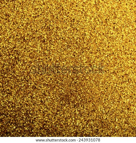 Golden crystal sand background - stock photo