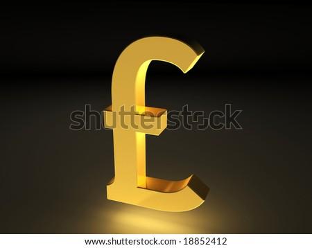 Golden Currency Symbol Pound Stock Illustration 18852412 Shutterstock