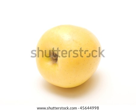 Golden Delicious apple isolated on white