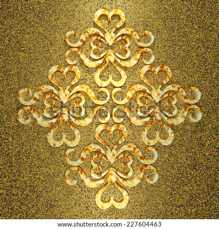 golden design 3d ornament background