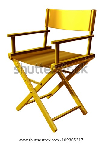 "golden directors chair, ""Regiestuhl"""