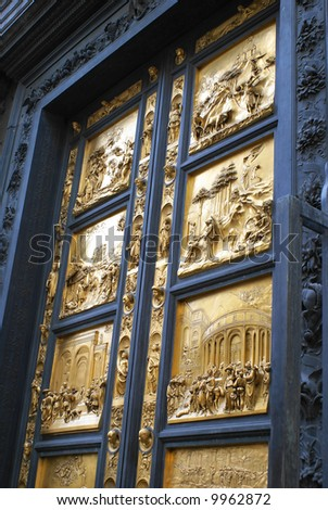 Golden doors of the duomo in Florence Italy & Golden Doors Duomo Florence Italy Stock Photo 9962872 - Shutterstock Pezcame.Com