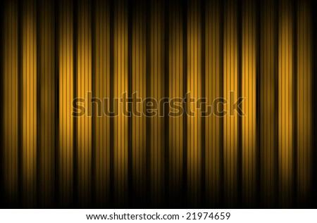 Golden drapery - stock photo