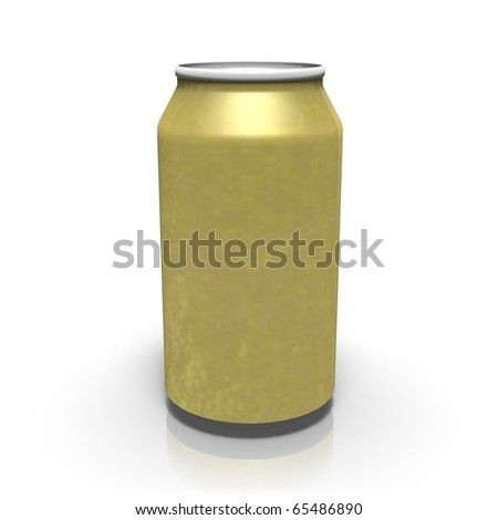 Golden drink can