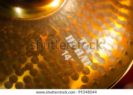 golden drum hi-hat cymbal