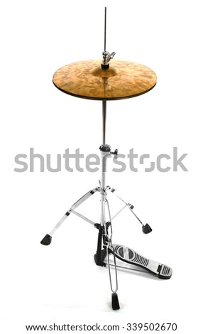 Golden drum isolated on white background - stock photo