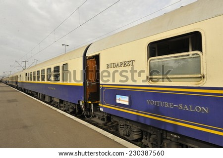 Golden Eagle Danube Express on its inaugural journey to Iran - stock photo