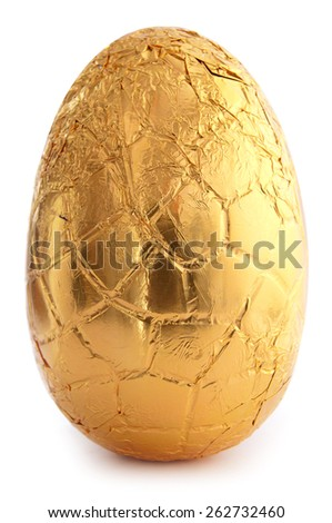 Golden easter egg - stock photo