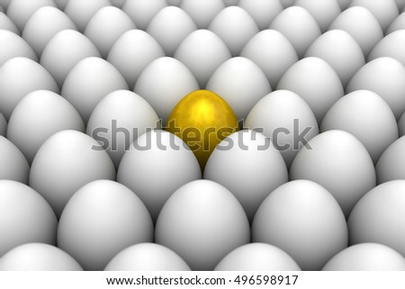 Golden eggs. Conceptual illustration. Available in high-resolution and several sizes to fit the needs of your project. 3D illustration render