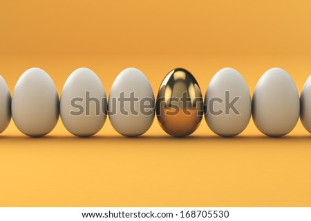 Golden Eggs, finance concept - stock photo