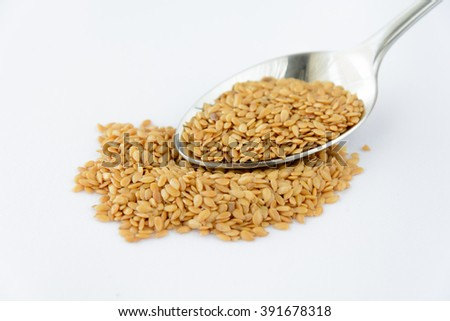 Golden flaxseed - organic food - ingredients