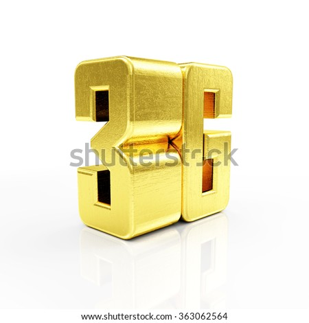 Golden 3G Symbol of Standard Wireless Communication isolated on white reflective background - stock photo