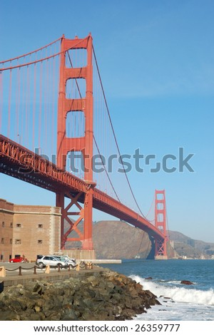 Golden Gate Bridge and Fort Point; San Francisco, California