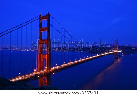 Golden Gate Bridge and San Francisco at twilight