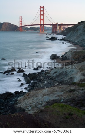 Golden Gate Bridge at dawn - San Francisco - stock photo