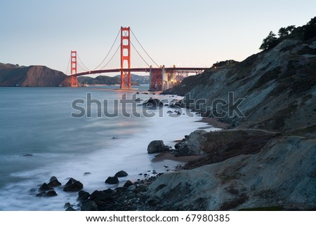 Golden Gate Bridge at dawn - San Francisco