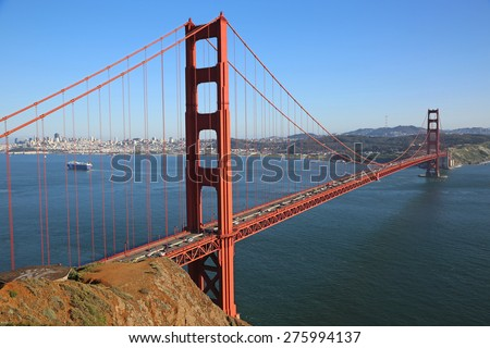 Golden Gate Bridge from Battery Spencer, California