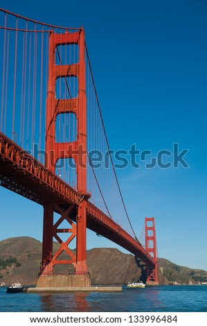 Golden Gate bridge from Fort Point - stock photo