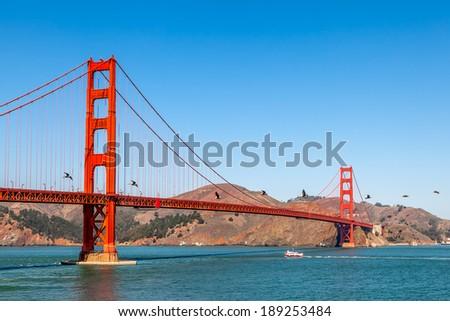Golden Gate Bridge in San Francisco, California - stock photo