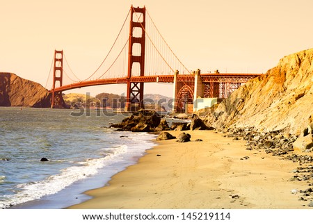 Golden Gate bridge in San Francisco, USA. - stock photo