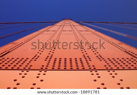 Golden Gate Bridge pylon,San Francisco,California, USA - stock photo