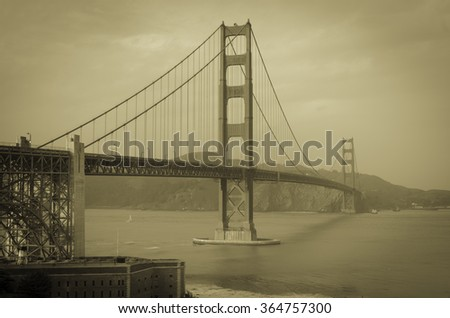 Golden Gate Bridge San Francisco California December 2015