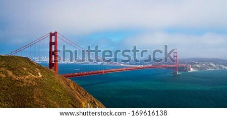 Golden Gate Bridge, San Francisco, California, USA. - stock photo