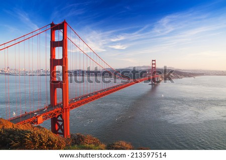 Golden Gate Bridge, San Francisco, California, USA - stock photo