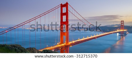 Golden Gate Bridge, San Francisco, California USA - stock photo
