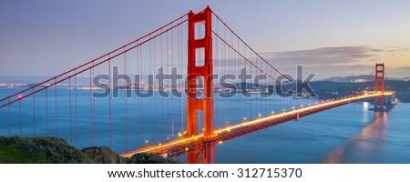 Golden Gate Bridge, San Francisco, California USA - stock photo