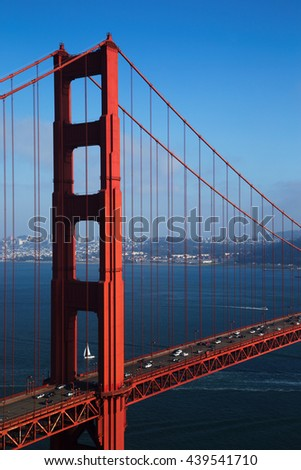 Golden Gate Bridge with Blue Sky, San Francisco