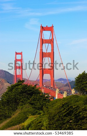 Golden Gate from the presidio in San Francisco