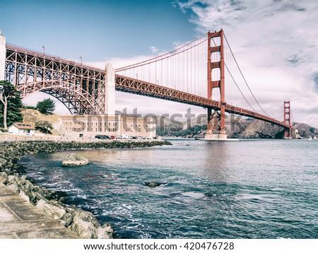 Golden Gate in San Francisco, USA - stock photo